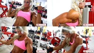 Absolutely awesome. The phenomenal Autumn Swansen killin it hard in the gym. Part 2 of her workout from just 5 days out from the Olympia is now available!
