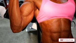 Tremendous muscle power - HUGE AND RIPPED - get the new Autumn Swansen video today in her HDPhysiques.tv Clips Store!