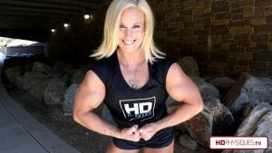 "Absolutely gorgeous, and enormous muscles. It doesn't get any better than the awesome Alli Schmohl and her 16"" biceps - Get her new vids today and show your support!"