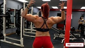 """Katie and her MASSIVE guns at over 17"""" - get all of her hot videos today in the Katie Lee's Peak Power Clips Studio!"""