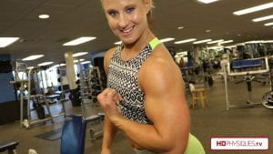 """Tremendous 16"""" biceps power - get this HOT video today from the """"Alli and her Big 16's"""" Clips Studio!"""