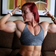 Visit the Katie Lee Clips Studio for another TREMENDOUS video of female muscle power!