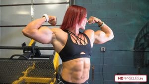 Katie looking MASSIVE & HUGE and is now in ripped shape, just 6.5 weeks out from Omaha - get this awesome new video today!