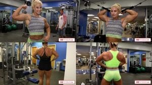 """Check out Alli's AWESOME Muscles!  Get all 3 of her training videos with 205 lb """"Big Ole Bitch"""" Chelsea Dion - massive biceps and more!"""