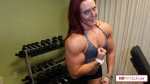 Heyyy there boys... buy my new video - flexing my huge biceps, I know you'll like! - Katie Lee