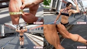 Just look - ripped conditioning, huge calves, unlike any we've ever seen. All in 4K resolution in the newest video in the Jill Diorio - Calves Galore, Clips Studio!