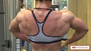Sara Butler's HUGE back giving Katie a run for her money! Get the 2 new videos today in the Katie Lee Peak Power Studio!