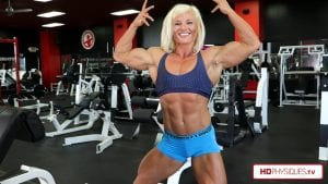 """Amazing huge and powerful biceps and chest - NEW VIDEO of Brooke """"literally perfect"""" Walker, now available in her Clips Studio!"""