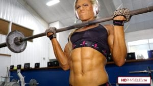 Check out those razor sharp abs!  Get the new Autumn Swansen video from Decatur Gym (part 1) today!