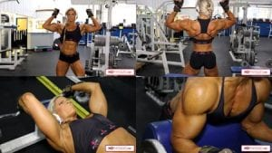 Mind-blowing muscle!  The midwest muscle cutie works out with FIERCE intensity in her 2 new videos now available in the Autumn Swansen Clips Studio!