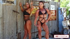 After posing with Jamie Pinder for still photos with PremiumPhysiques, then Irina Berishnikov measures Jill's awesome muscles, prior to MEGA ripped posing in the desert. Get this HOT video today in Jill's Studio!