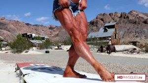 Ultra-ripped quads, vascularity gone nuts - get this new video in the Jill Diorio Clips Studio!