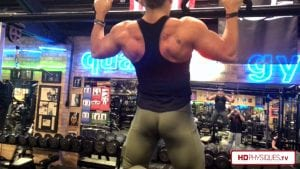 HUGE Back!  Working back and biceps in the new clip - check out Beefnuggette's new video today!