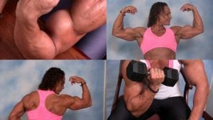 Get the NEW VIDEO in the Muscle Beauties Clips Studio featuring the HUGE and MASSIVE Ilze Meyer!