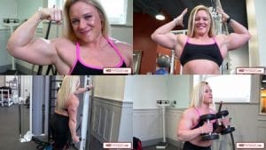 2 NEW VIDEOS now available in the Female Muscle Store's Hailey Delf Peak Freak Clips Studio!
