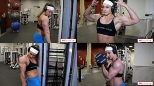 Outstanding female muscle!  Beefnuggette will WOW you in this latest big muscle training video - get it today!