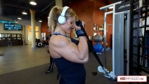 Jamie is a BEAST in the gym.  Get this hot video today from the beginning of her 2018 Contest Prep.  Huge and powerful muscle!