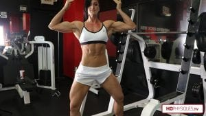 Annie is getting ready for a show - and she loves to flex and show off her hard work - get this new video today!