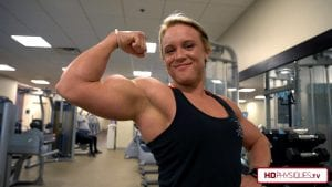 """The fastest growing girl in America now has 16"""" arms! See the biceps blast video just added in the Hailey Delf Clips Studio!"""