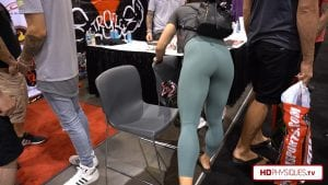 Nearly popping through those Yoga pants, those calves and quads are made of steel!