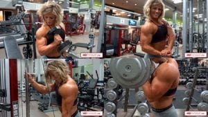 """Simply amazing!  Brooke is bigger and harder than ever!  As part of our """"Quartet of Muscle"""" series, this is Brooke's first video in the series... stay tuned for more to come!  And get this HOT video today!"""