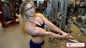 """The hottest young female bodybuilder in the world today - get the new video in the Paige """"Beefnuggette"""" Sandgren Clips Studio today!"""