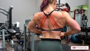 Jordan flexes her enormous upper body too!  This new clip is HOT HOT HOT!  Get it today!