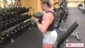 Those delts and biceps are getting enormous - help support Hailey's transition to physique by purchasing her hot videos today!