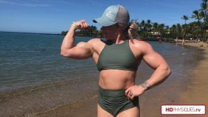 Look at those MONSTER arms - get this video for FREE by taking advantage of the newly announced Hailey's Holiday Promotion!
