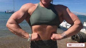 """Getting HUGE and MASSIVE - get this """"H-Bomb in Hawaii"""" video for FREE with the new Hailey's Holiday Promotion here at HDPhysiques.TV!"""