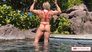 It doesn't get much better than this, folks!  Red HOT Hailey in a thong bikini - get this new video today!