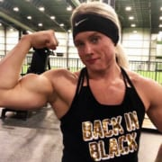 NEW Hailey Delf Vid!  LEG Blast Plus Biceps Posing!