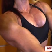CHEST LOVERS LOOK OUT!  Brand New Katie Lee Video features Chest & Bi's!