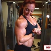 NEW VIDEO – Katie's Hot & Sweaty HUGE Muscles in Boca Raton!